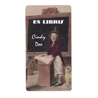 Bookplate Fun Vintage Teacher Book Label EX LIBRIS Shipping Label