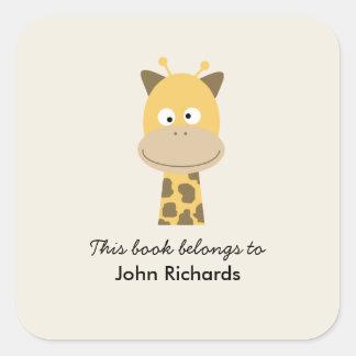 Bookplate Funny Giraffe Sticker