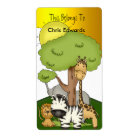 Bookplate Labels School Teens Kids Jungle 3
