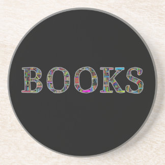 Books: a design for book lovers drink coaster