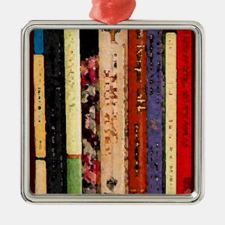 Books Abstract Christmas Ornament