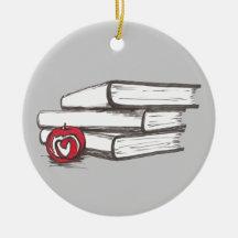 Books + An Apple | Customisable Bookworm Ornament