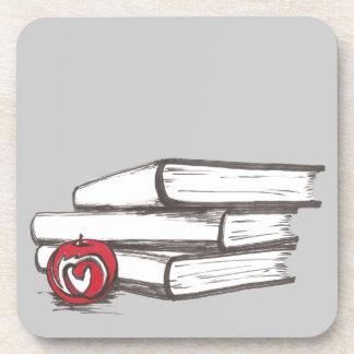 Books + An Apple | Customizable Coasters