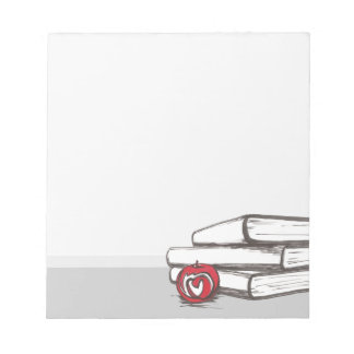 Books + An Apple | Customizable Notepad