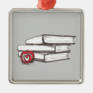 Books + An Apple | Ornament | Customizable