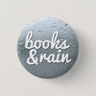 Books and Rain 3 Cm Round Badge