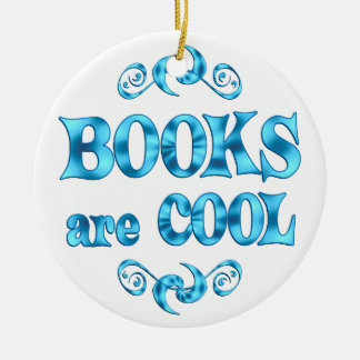 Books are Cool Christmas Ornament
