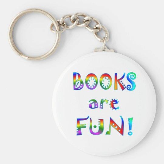 Books are Fun Basic Round Button Key Ring