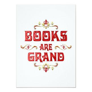 """Books are Grand 5"""" X 7"""" Invitation Card"""