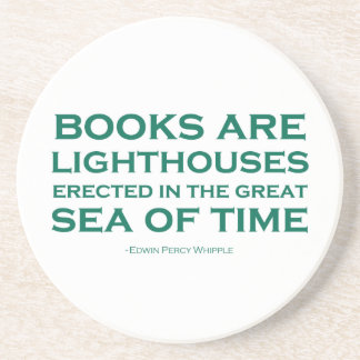 Books Are Lighthouses Beverage Coasters