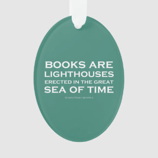 Books Are Lighthouses Ornament
