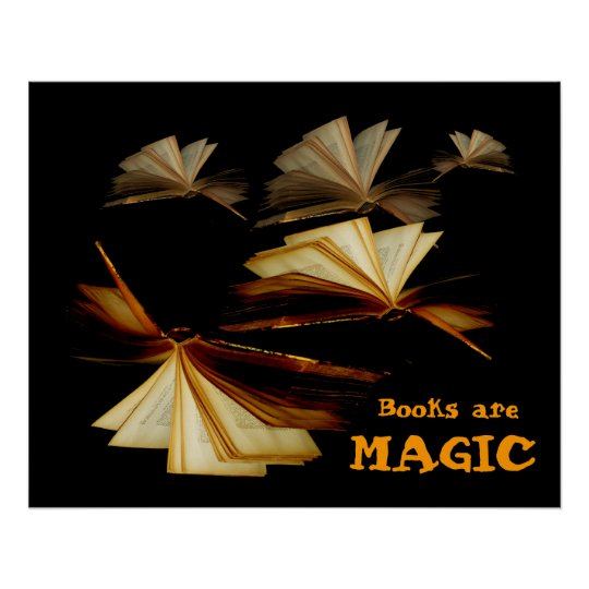 Books are magic poster