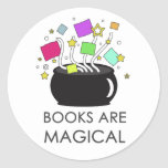 Books Are Magical Round Stickers
