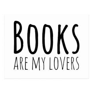 Books are my Lovers Postcard