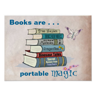 Books are Portable Magic Poster