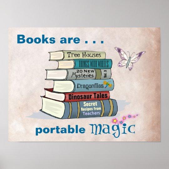 Books are Portable Magic Poster