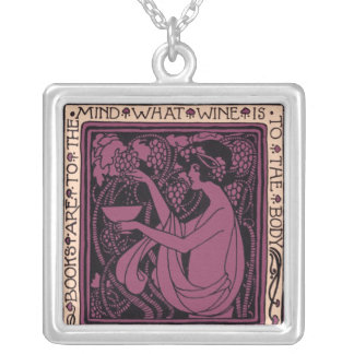 Books are to the Mind Square Pendant Necklace