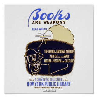 """""""Books Are Weapons"""" Poster"""