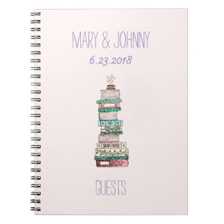 Books & Blossoms Guest Book Spiral Notebooks
