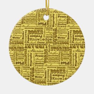 Books Books Books! Christmas Ornament