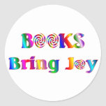 Books Bring Joy Round Sticker
