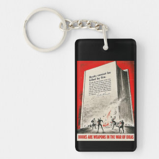 Books Can't Be Killed By Fire Double-Sided Rectangular Acrylic Key Ring