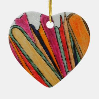 Books Ceramic Heart Decoration