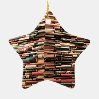 Books Ceramic Star Decoration