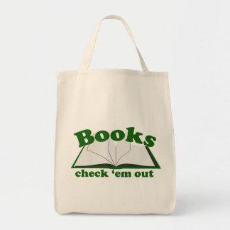Books Check em Out Tote Bag