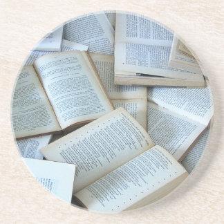 Books Beverage Coasters