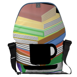 Books & Coffee: Need I Say More? Courier Bag