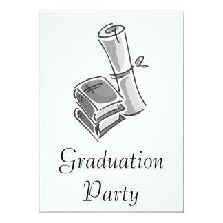 Books & Diploma 13 Cm X 18 Cm Invitation Card