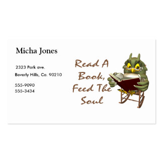 Books Feed The Soul Wise Owl Business Cards