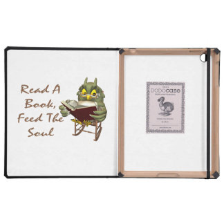 Books Feed The Soul Wise Owl iPad Case