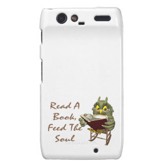 Books Feed The Soul Wise Owl Droid RAZR Case