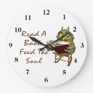 Books Feed The Soul Wise Owl Wallclocks