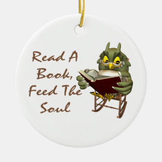 Books Feed The Soul Wise Owl Christmas Tree Ornaments