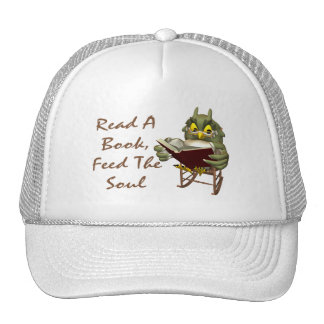 Books Feed The Soul Wise Owl Trucker Hats