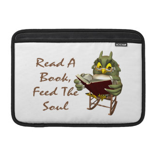 Books Feed The Soul Wise Owl MacBook Air Sleeves