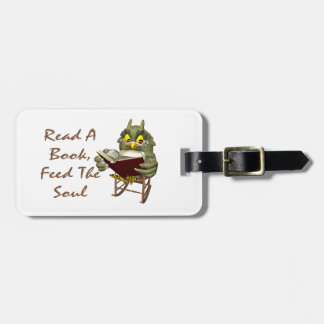 Books Feed The Soul Wise Owl Tag For Luggage