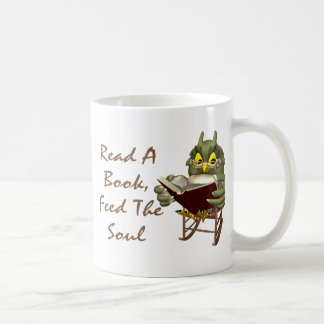 Books Feed The Soul Wise Owl Coffee Mugs
