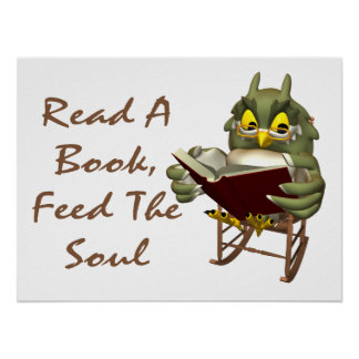 Books Feed The Soul Wise Owl Posters