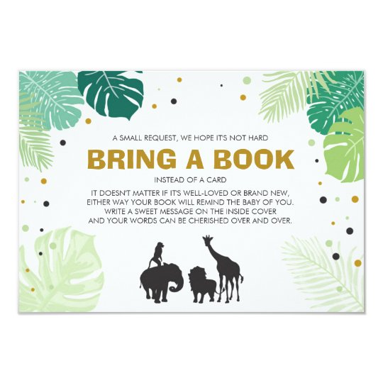 Books for baby Bring a book Safari Animals Jungle Card