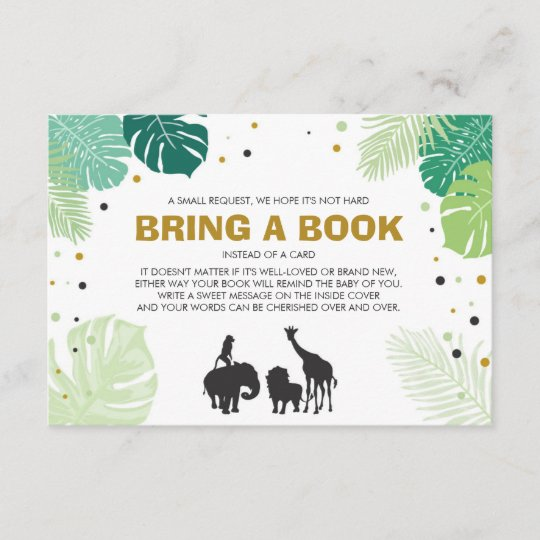 Books for baby Bring a book Safari Animals Jungle Enclosure Card