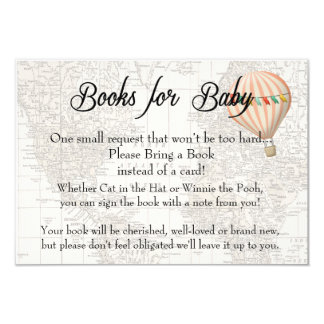 Books for Baby Card -Pink Hot Air Balloon Girl
