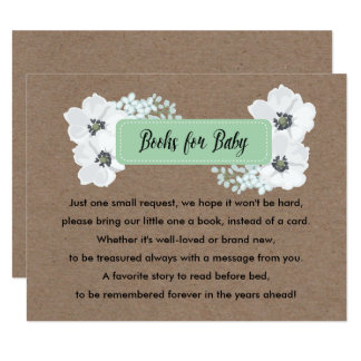 Books for baby mason jar Baby Shower Game Card