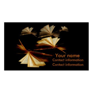 Books give you wings pack of standard business cards