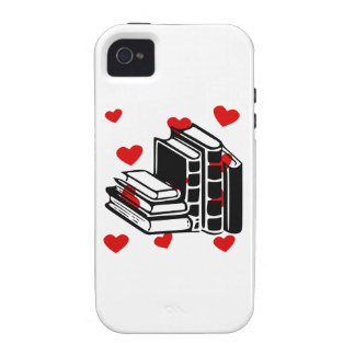Books Hearts Vibe iPhone 4 Cases