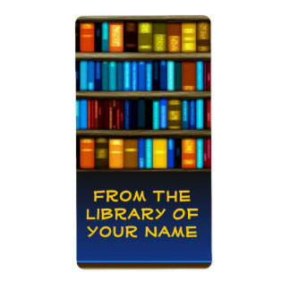 Books In Shelf Bookplate Sticker Labels