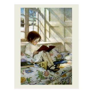 """""""Books in Winter"""" Post Cards"""